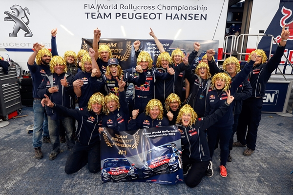 Team Peugeot Hansen makes sure of the 2015 FIA World Rallycross Championship* Teams' title!