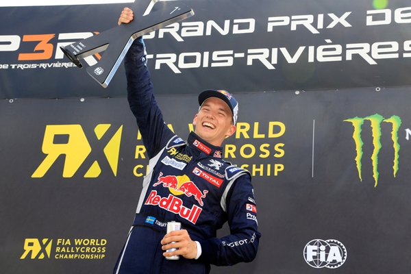 The Peugeot 208 WRX takes Canada victory in the hands of Timmy Hansen